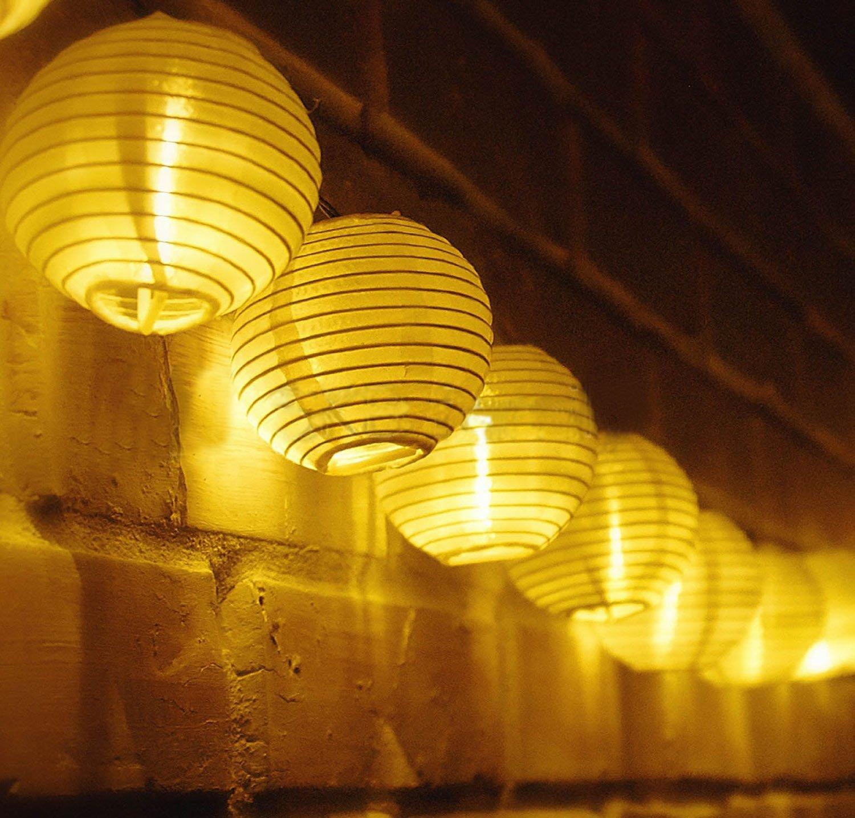 Farbe Samoleus Rattan Lichterkette Solar Farbe 20 LEDS 4.8M 2Modes Au/ßen Lichterketten Solar Lampions Wasserdicht Weihnachtsbeleuchtung f/ür G/ärten H/äuser Outdoor
