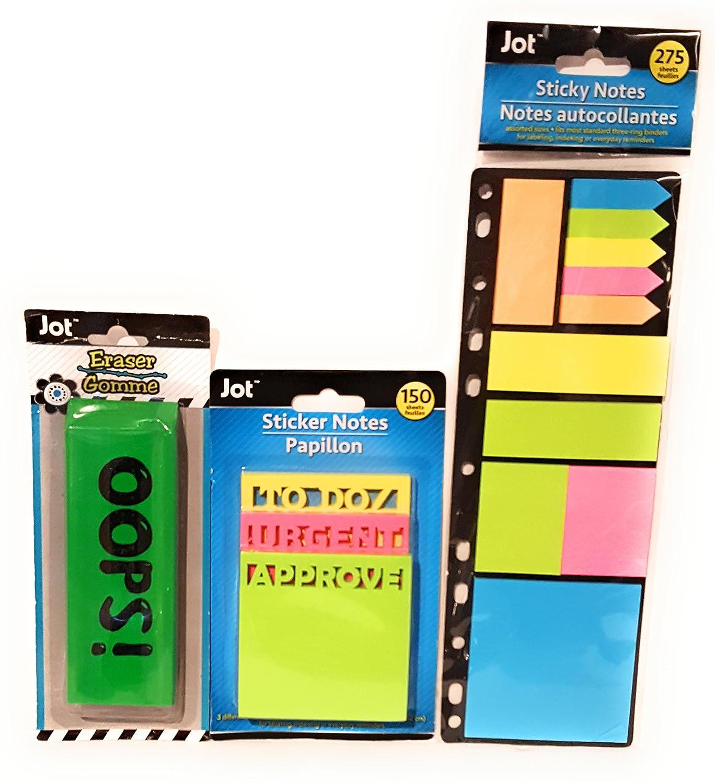 Back to School Giant Jumbo Pink Eraser For Big Mistakes Not Again OPPS My Bad Student Toddler Pre-school Elementary Middle School Classroom Teacher Jumbo Colors CHOSEN at Random BONUS POST IT NOTES