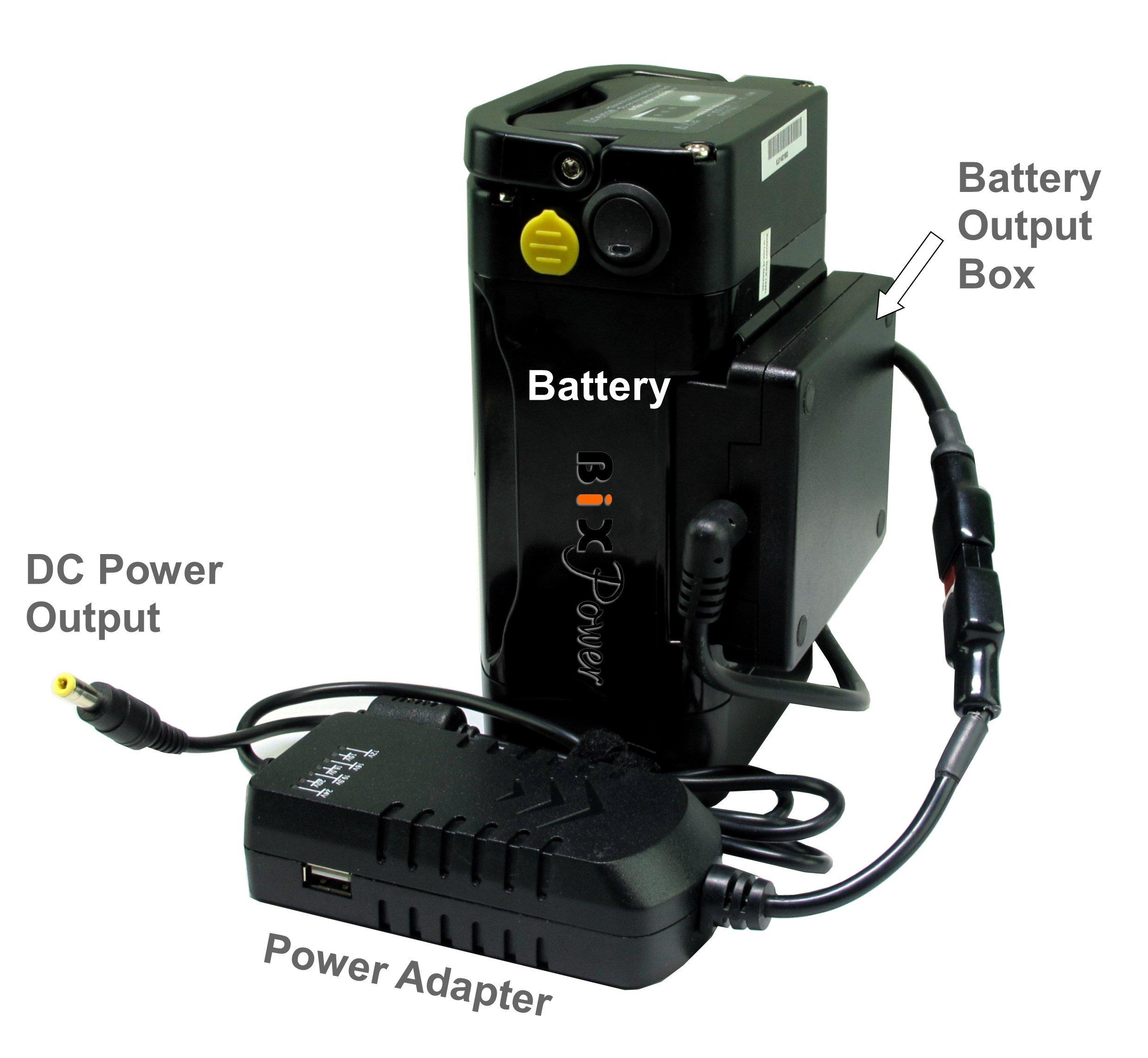 BiXPower MP330DC Battery Pack - Super Capacity 336 Watt-hour Light Weight Battery with Multi Output Voltages (12v/15v/16v/18v/19v/24v) Power Converter Combo Kit