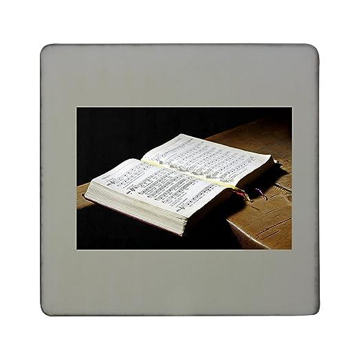Himnario, libro, cantar, música, Fe rígido cuadrado imán para ...