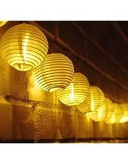 TurnRaise 4.8 Metros 20 LED Guirnaldas de Luces Farolillos Solares Exterior Impermeable para Decoración Jardines Casas