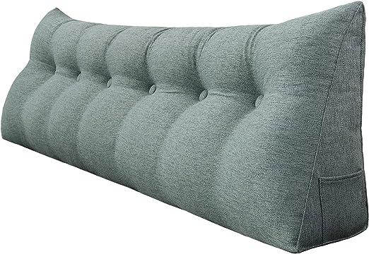 71/'/' Daybed Bolster Headboard Triangular Wedge Cushion Backrest Reading Pillow