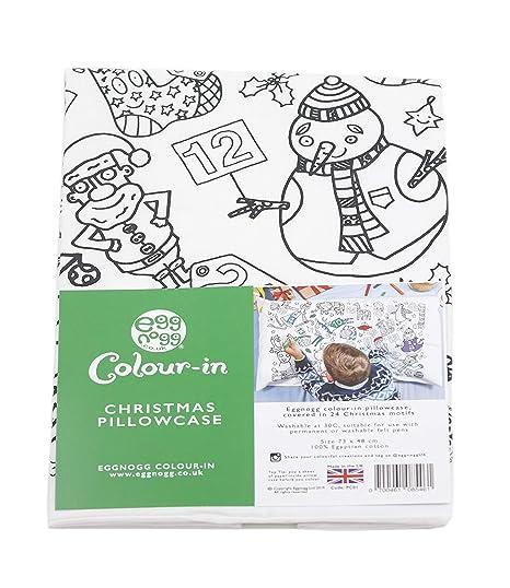 Cats /& Dogs Eggnogg Colour in Cotton Pillowcase