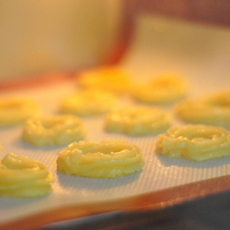 p/âtisserie biscuit Tapis de cuisson LoveChef Lot de DEUX Anti-Adh/érent feuille de cuisson en silicone 300*400*0.7mm pour macaron
