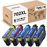 TESEN Remanufactured 702 XL Ink Cartridge Replacement for Epson 702XL 702 T702XL T702 to use with Workforce Pro WF-3720…