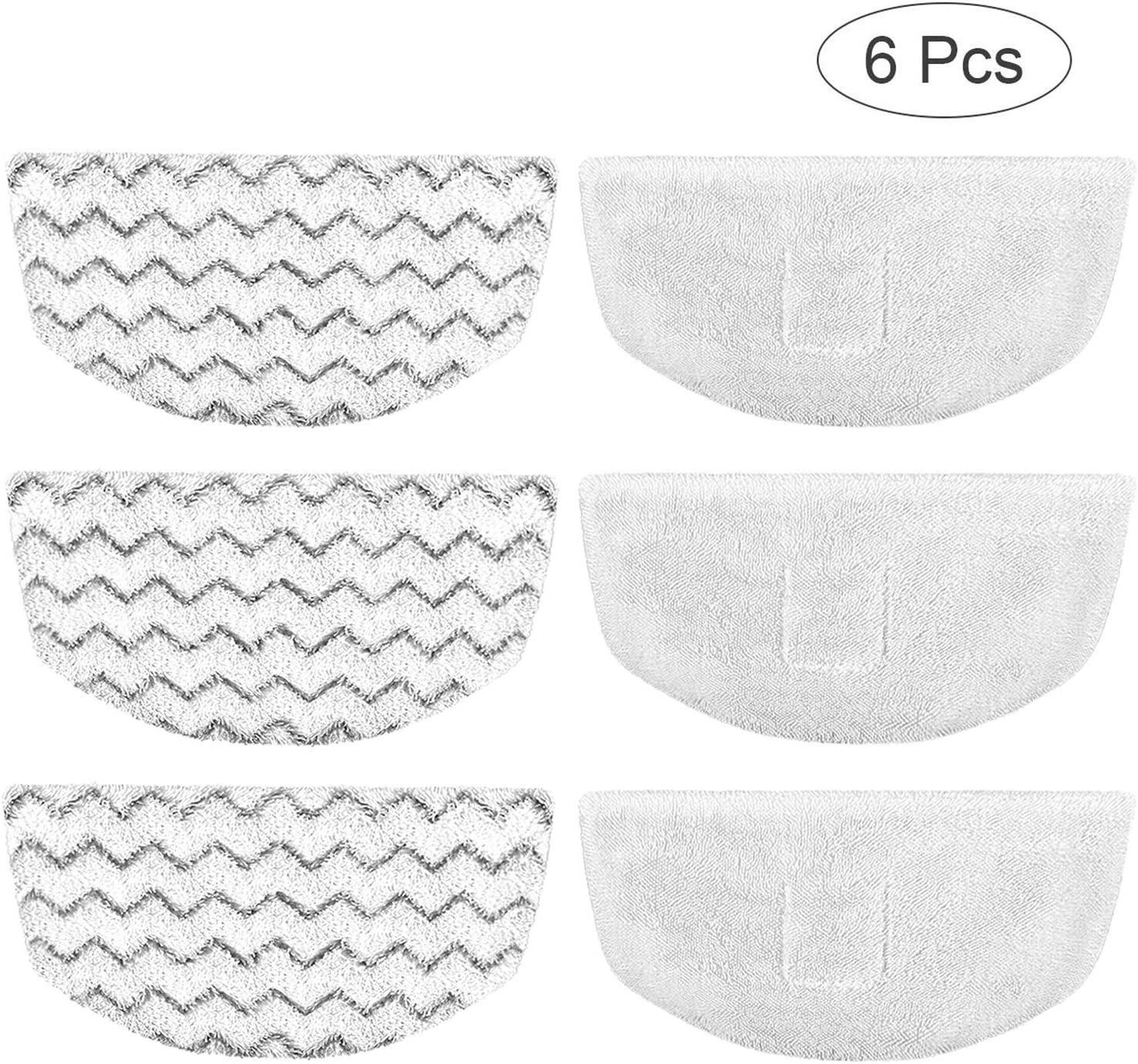 Bissell Steam Mop Pads 6pk Replacement/Washable/Reusable Compatible with Bissell Steam Mop 1940/1440/1544/1806/2075 Series, Model 19402/19404/19408/19409/1940a/1940f/1940q/1940t/1940w/B0006/B0017