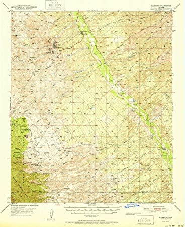 Amazon Com Yellowmaps Mammoth Az Topo Map 1 62500 Scale 15 X 15