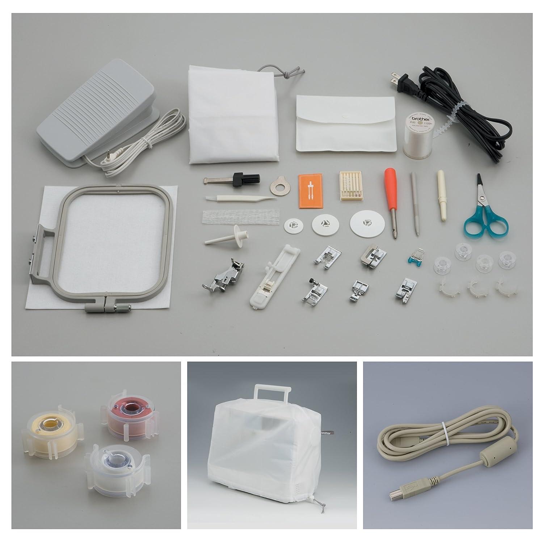 Brother SE-400 Eléctrico - Máquina de coser (Blanco, Bordado, Costura, 1 paso, 5 mm, LCD, Sensor): Amazon.es: Hogar