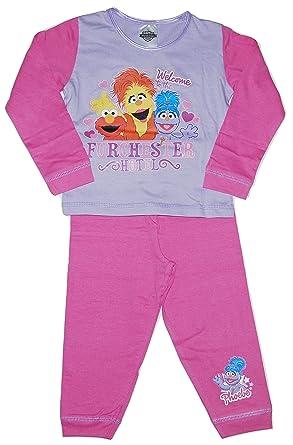 5c8159f36d53 CBeebies Girls Furchester Hotel Pyjamas Sesame Street  Amazon.co.uk ...