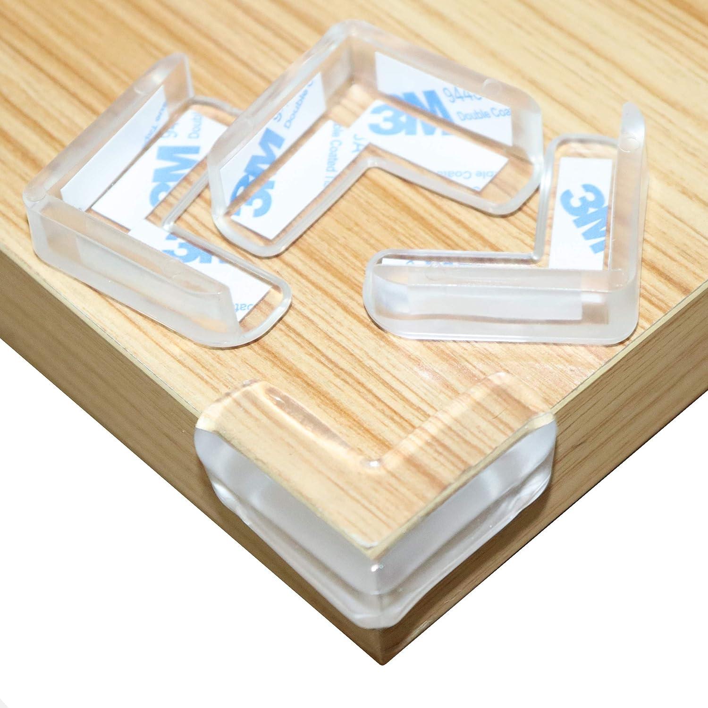 Suave PVC Protectores de Esquinas Transparentes Protector de Esquina Anti-Golpe para Beb/és y Ni/ño 16 Pcs