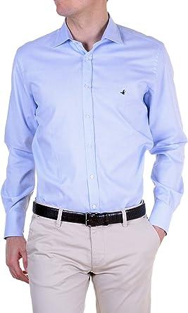 Brooksfield - Camisa Hombre Slim azul cielo 41: Amazon.es: Ropa y accesorios