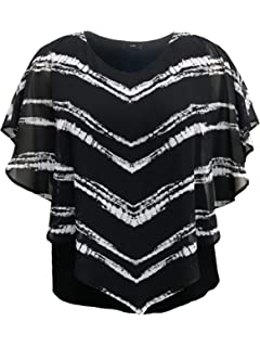 3bb11c97c eVogues Plus Size Sheer Crochet Lace Poncho Top Made in USA at ...