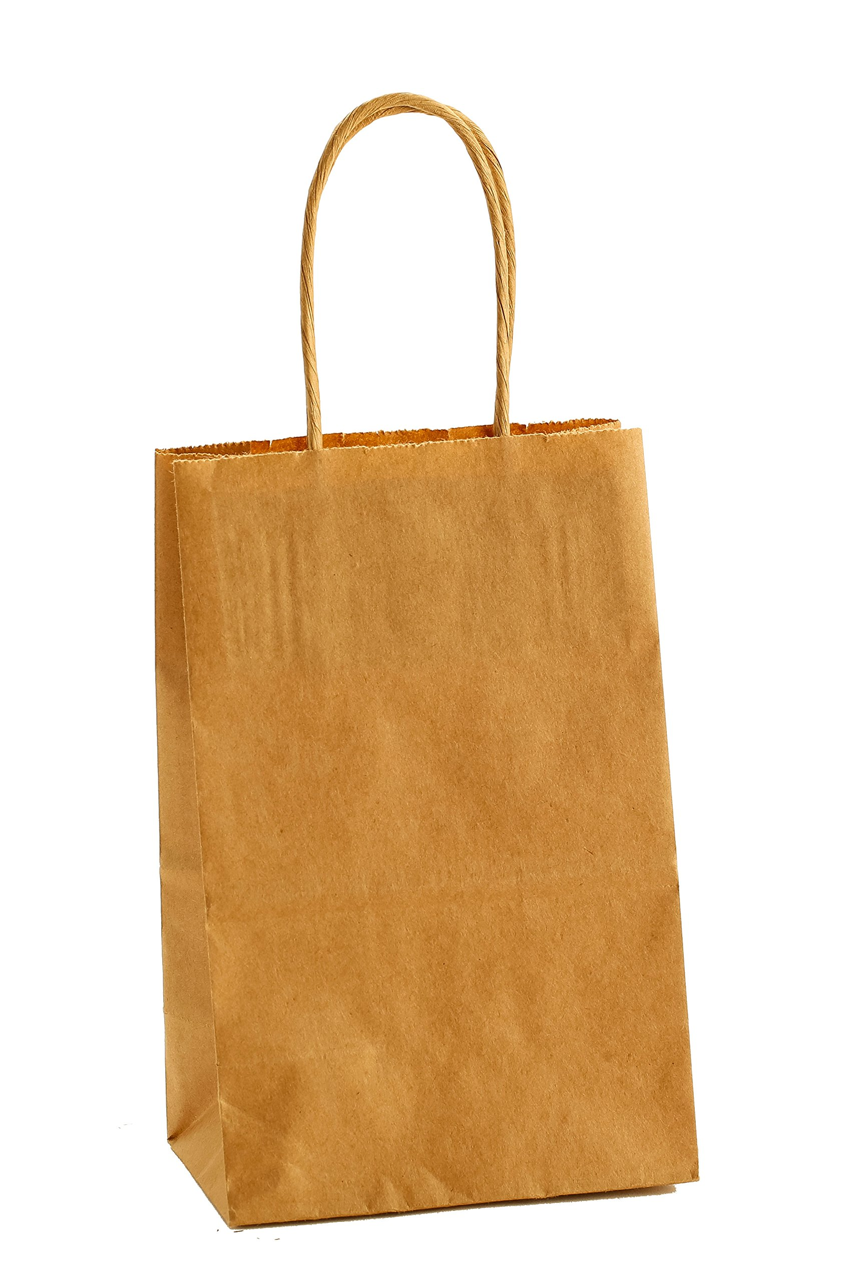 Premier Packaging AMZ-201025 15 Count Shoppers Gift Bag, 5.25'' X 3.5'' X 8.25'', Kraft