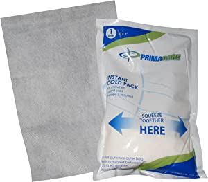 "Disposable First-Aid Instant Cold Pack for Pain Relief, Inflammation or Sprains | Emergency Compress Ammonium Nitrate Cold Pack for Toothache or Strained Muscles (24 6"" x 9"" Cold Packs)"