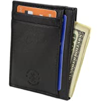 Hammer Anvil RFID Blocking Minimalist Front Pocket Wallet Genuine Leather
