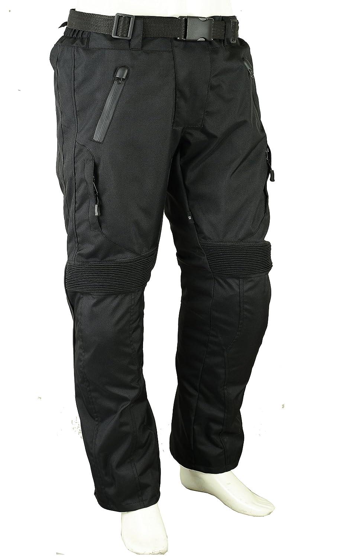 Unisexe Moto Pantalon de protection impermé able W32 L32, noir GearX