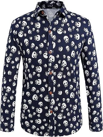 Yeokou Mens Casual Easy Care Short Sleeve Denim Shirt