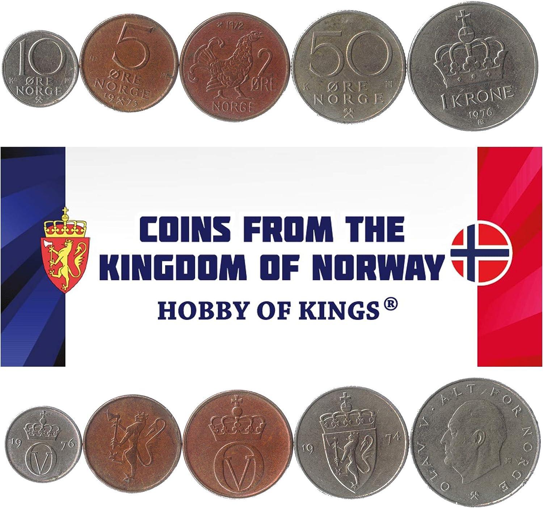 5 Monedas Diferentes - Moneda extranjera Noruega Antigua y Coleccionable para coleccionar Libros - Conjuntos únicos de Dinero Mundial - Regalos para coleccionistas: Amazon.es: Juguetes y juegos