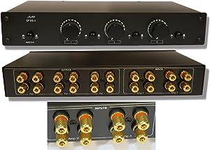 2 Amp x 3 Pair Speaker Selector Switch Switcher Volume Control, Commercial Grade Brass Jacks