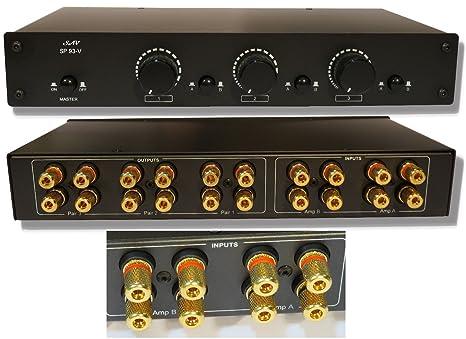 2 Amp x 3 Pair Speaker Selector Switch Switcher Volume