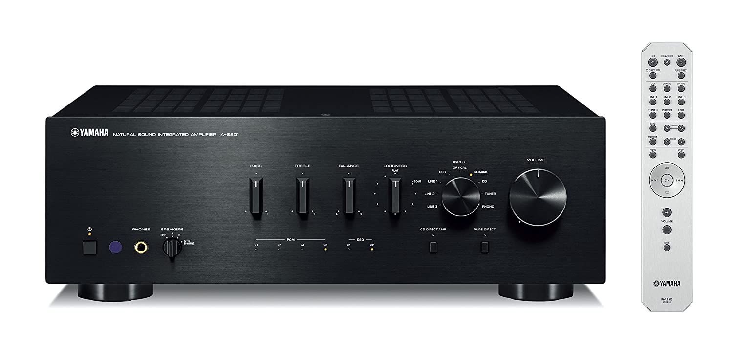 Yamaha A-S801BL Natural Sound Integrated Stereo Amplifier (Black)