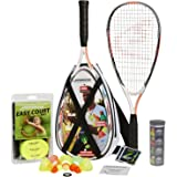 Speedminton S900 Set - Original speed ​​badminton / crossminton Professional set with 2 carbon rackets incl. 5 Speeder, playing field, bag