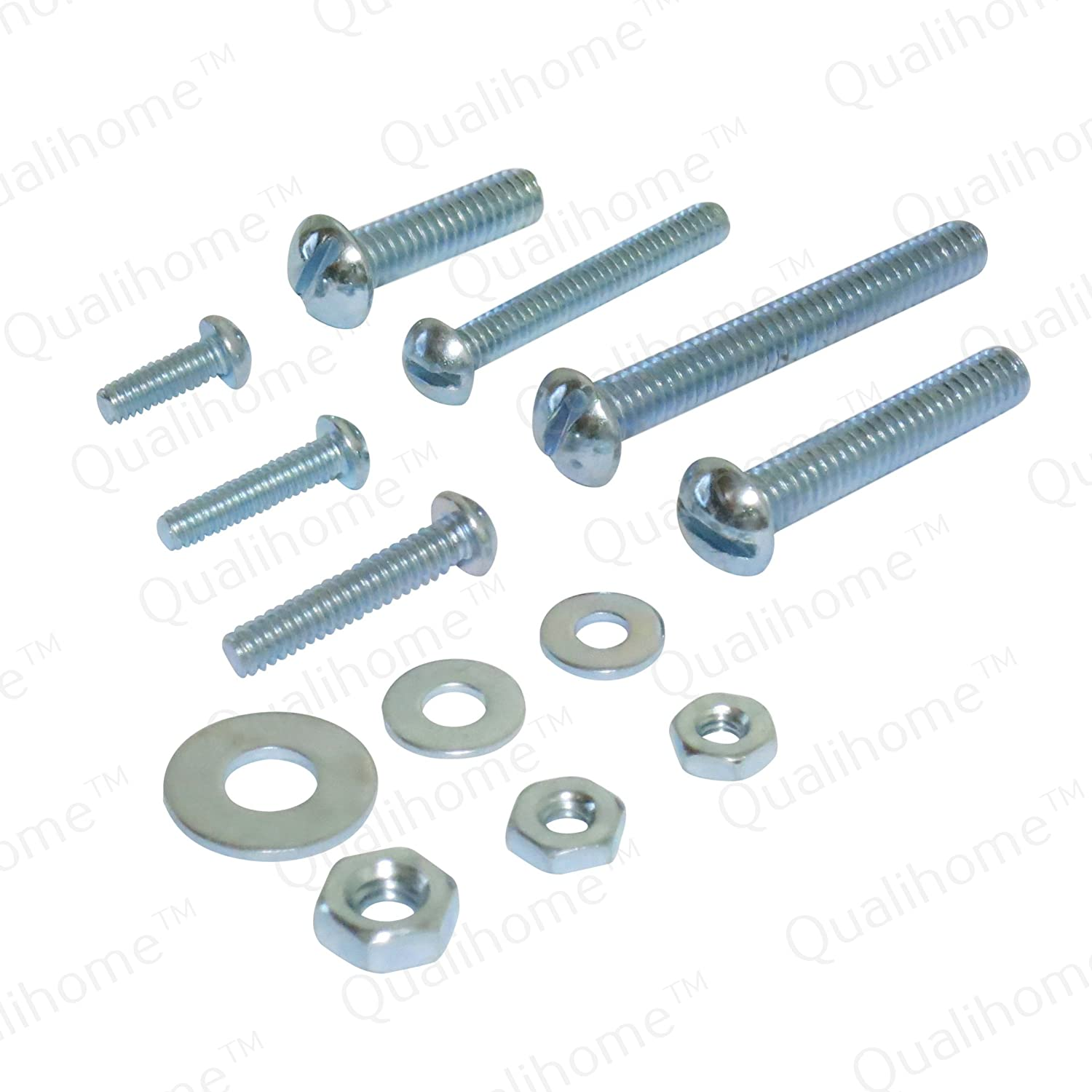108 Pieces Qualihome Nuts and Washer Assortment Kit Bolts