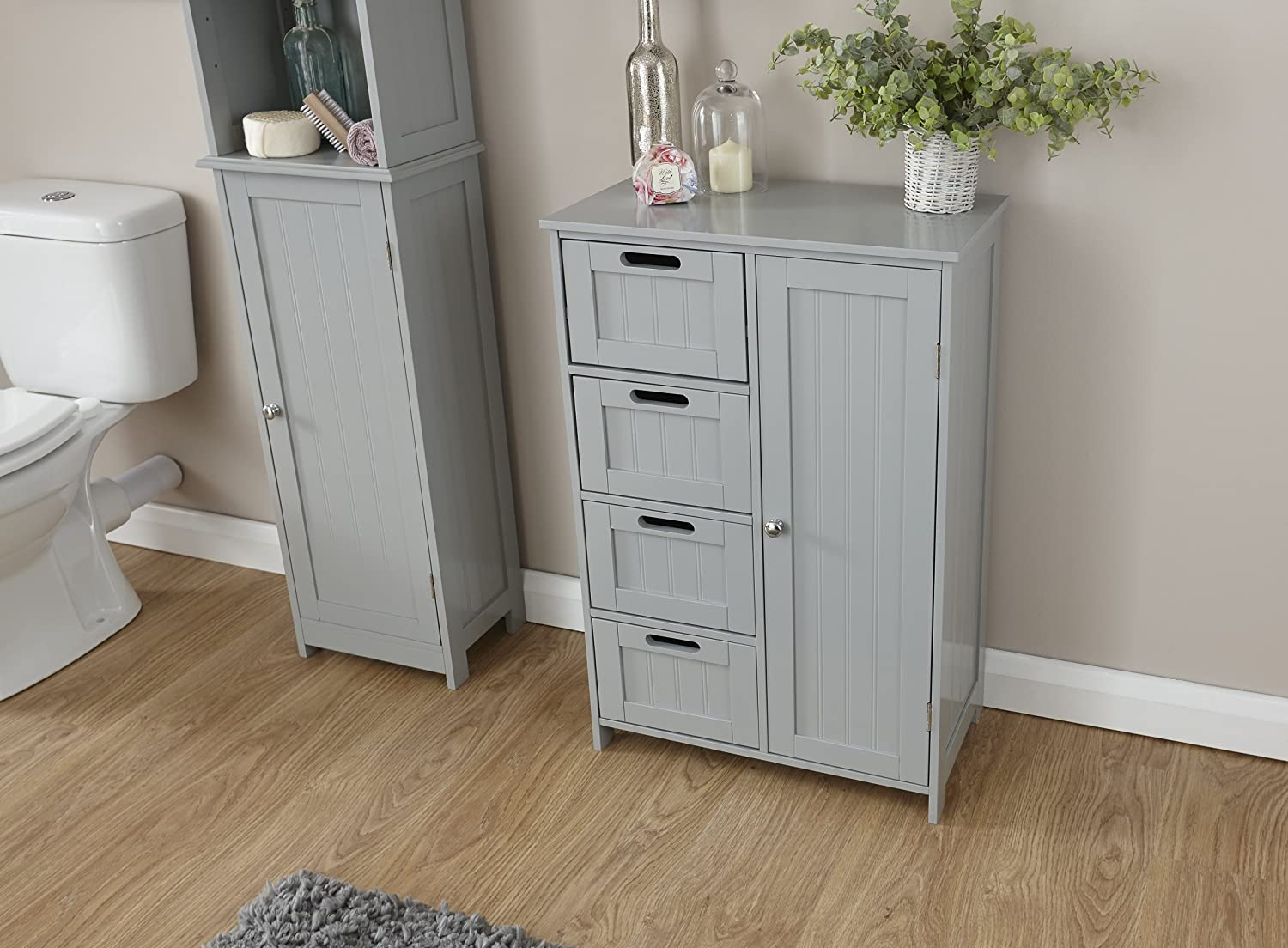 Colonial Grey Bathroom Furniture - Cupboards, Storage & Shelving GFW - The Furniture Warehouse
