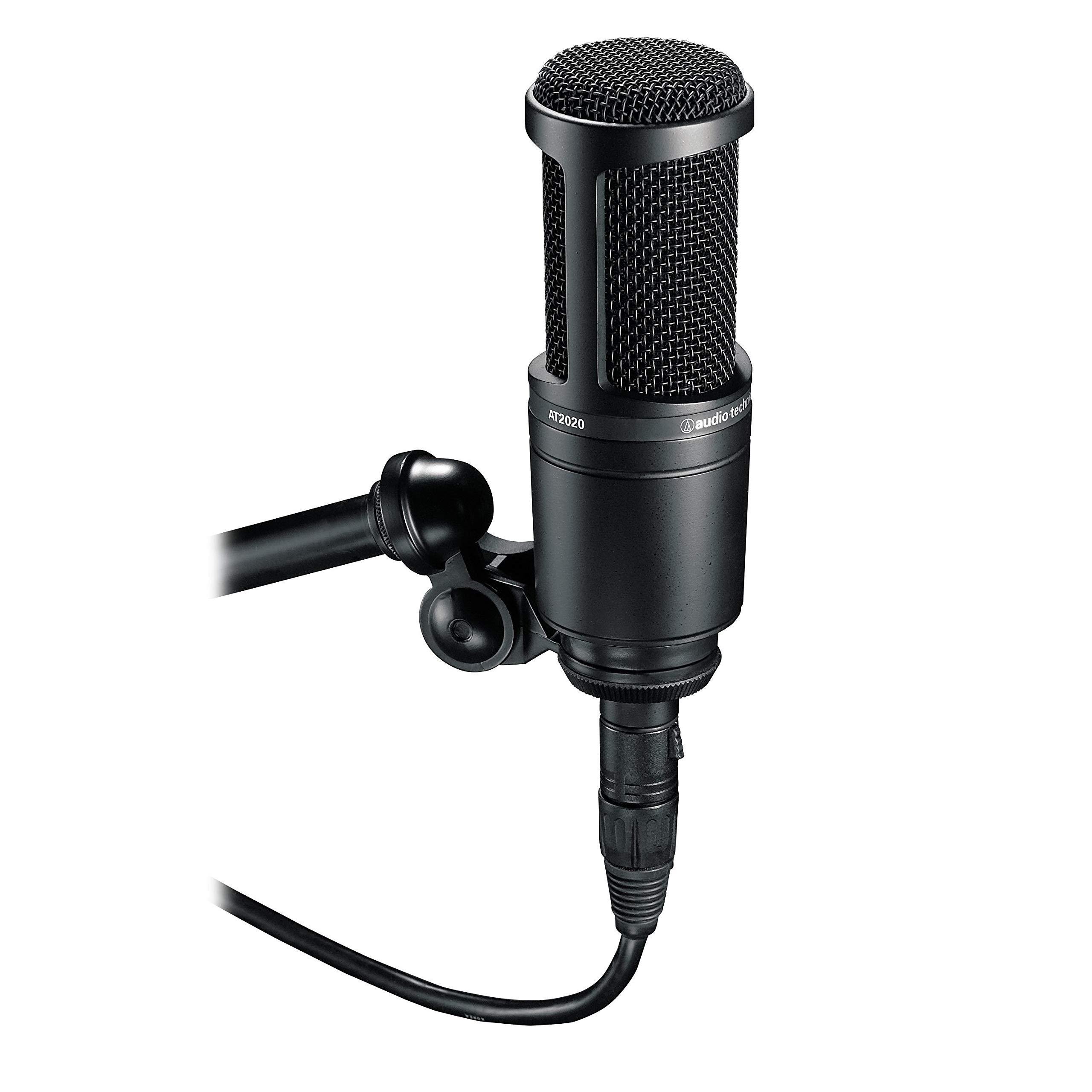 Audio-Technica AT2020 Cardioid Condenser Studio XLR Microphone, Black by Audio-Technica (Image #2)