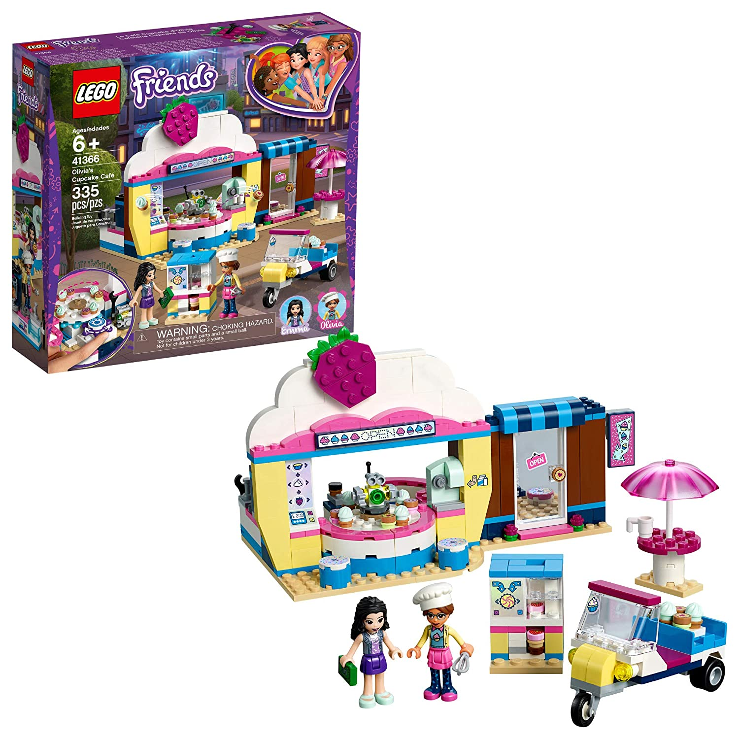 LEGO Friends Olivia's Cupcake Café 41366 Building Kit , New 2019 (335 Piece)