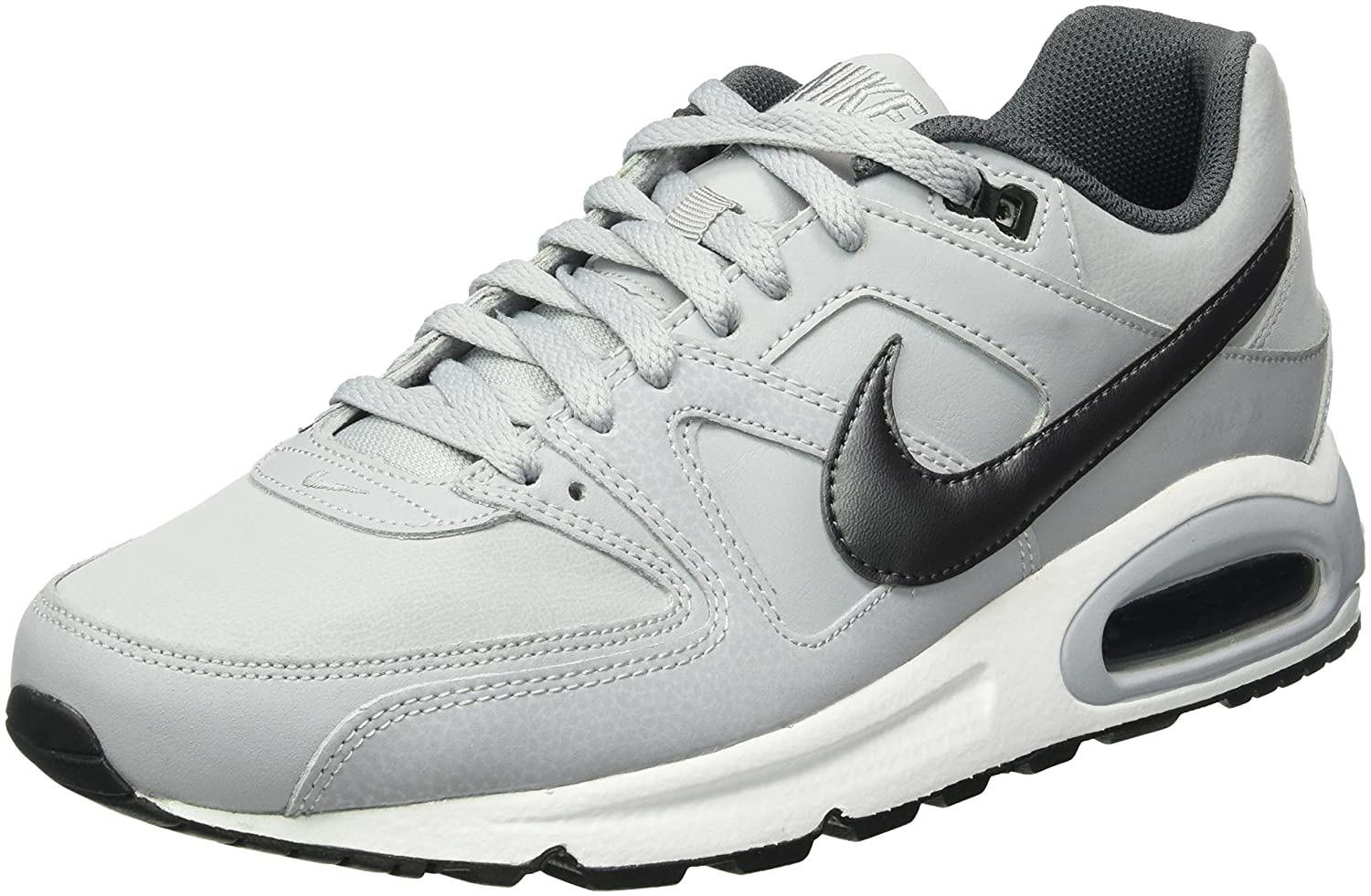 Nike Air MAX Command Leather - Zapatillas de Running, Hombre 45 EU|Gris (Wolf Grey/Metallic Dark Grey-black-white 012)