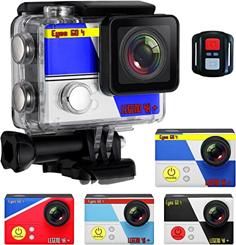 Eyes GO (Cámara Deportiva 4K) 4+® + Kit 32 Accesorios 20 MP Marca ...
