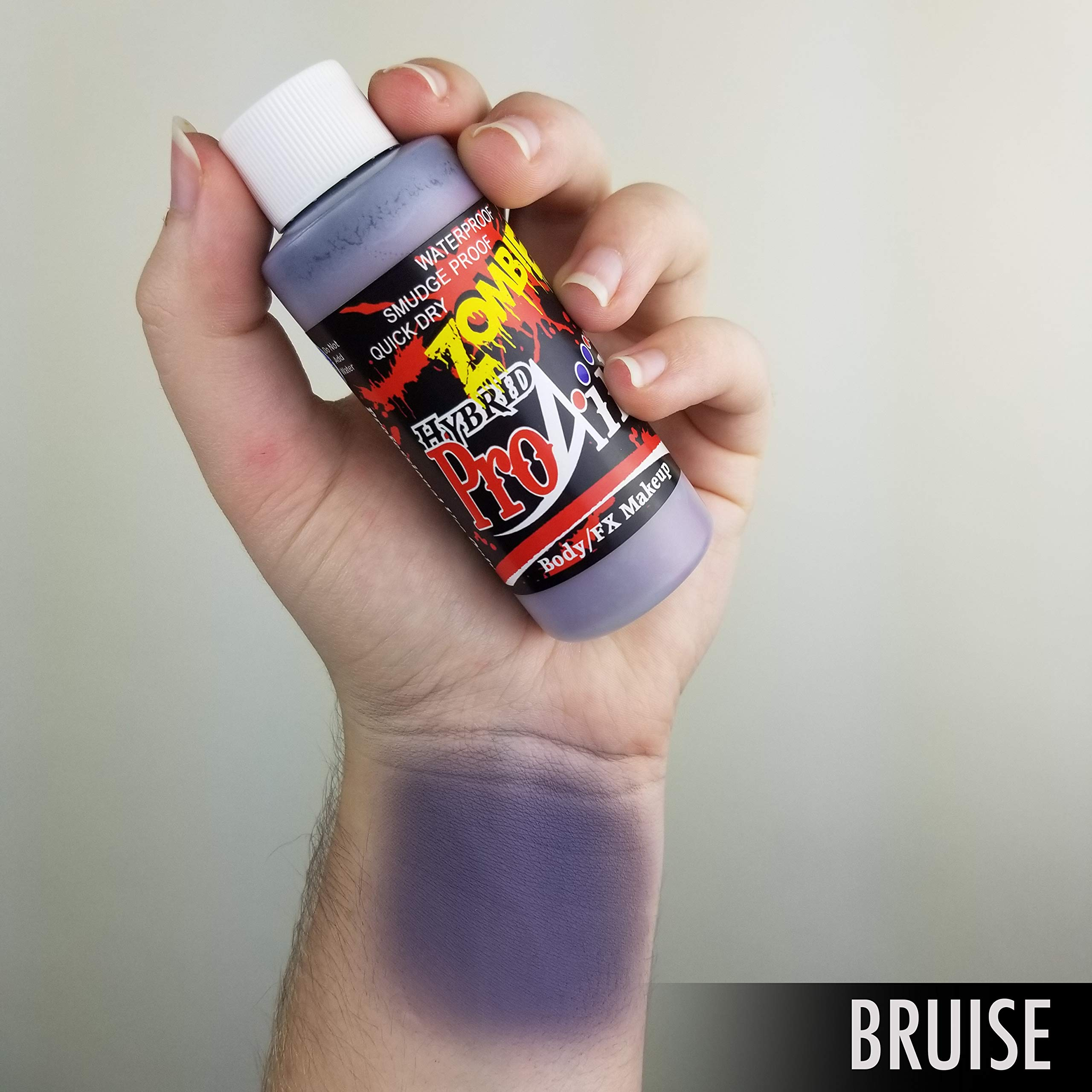 Face Painting Makeup - ProAiir Waterproof Makeup - Third Set of 6 Ghoulish Zombie Colors - 1 oz (30ml) by ShowOffs Body Art (Image #7)