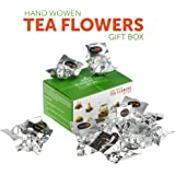 Tealyra - 12 pcs Blooming Flowering Tea - 12 Variety Flavors of Finest Blooming Teas – All Tea Balls Individually Sealed - Great Gift Bloom Teas Box