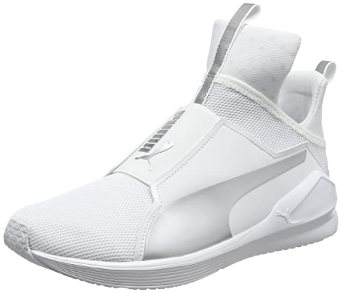 7dab647379c077 Puma Women s Fierce Core White- Silver Indoor Multisport Court Shoes - 7  UK India