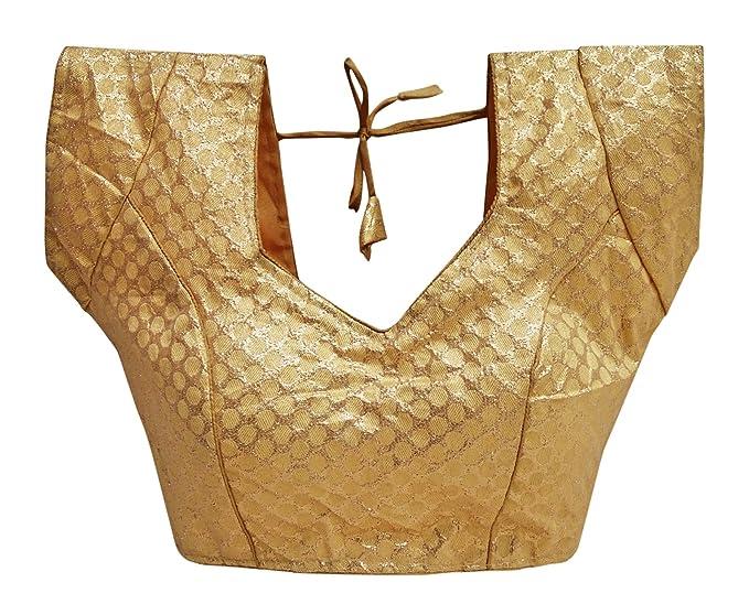 PEEGLI Blusa Acolchada del Brocado Acolchado del Desgaste del Partido De La Blusa del Diseñador De