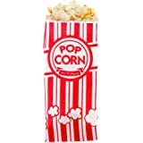 Popcorn Bags - ( 150 Bags - 1 Ounce Each ) - Classic Red and White Striped