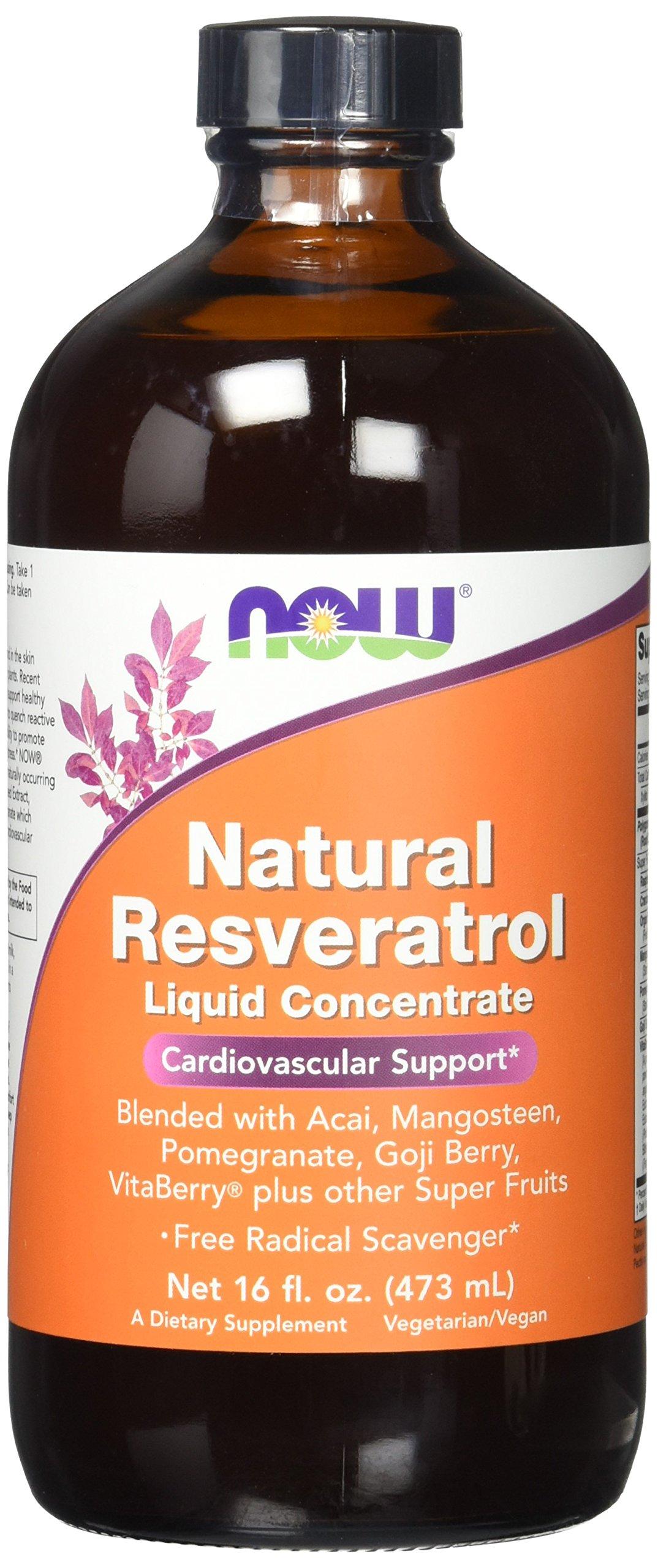 NOW Resveratrol Liquid Concentrate, 16-Ounce