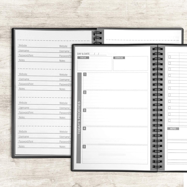 Wiederverwendbar Planer-Notizbuch , Personal Organizer A5 Intelligentes Notizbuch L/öschbar Cloud-Speicher T/äglich Planer 103 Seiten,Schwarz