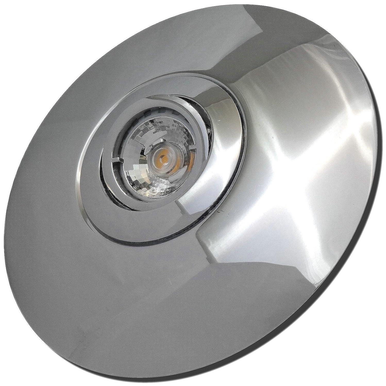 3 Stück MCOB LED Einbaustrahler Big Laura 230 Volt 7 Watt Schwenkbar Chrom Neutralweiß