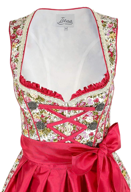 Robe Traditionnelle 2 pi/èces Lara Dirndl Exclusive avec Tablier rouget Dirndl pour Le Carnaval dOktoberfest