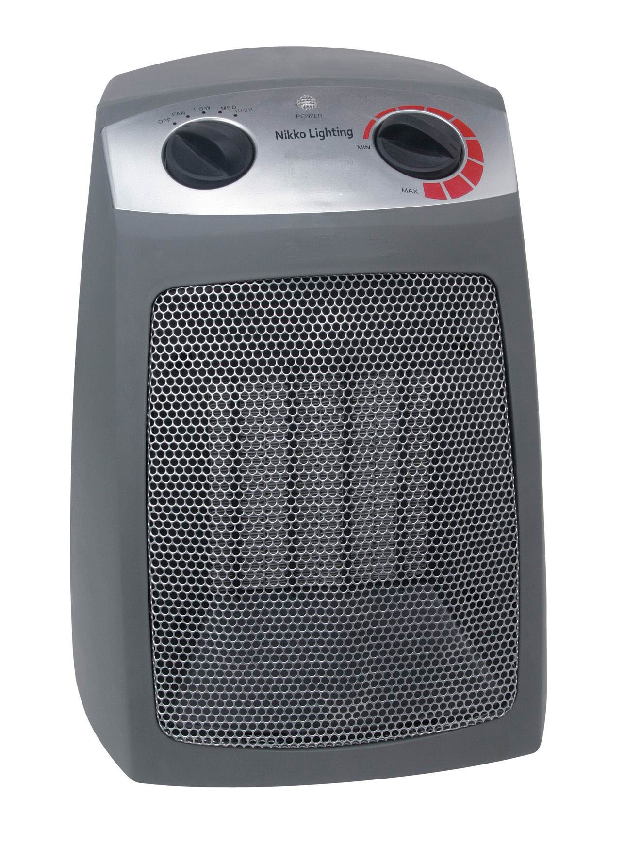 Nikko Heater (UL LISTED) - 5200 BTU - Auto Temp Control - Over Heat Protection - Tip Over Protection - Dust Filter - Rear Cool to Touch by Nikko Lighting