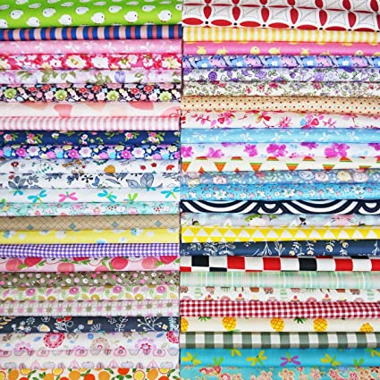 200 X 2 INCH SQUARES COTTON PATCHWORK FABRIC CHARM PACK QUIRKY BRIGHTS