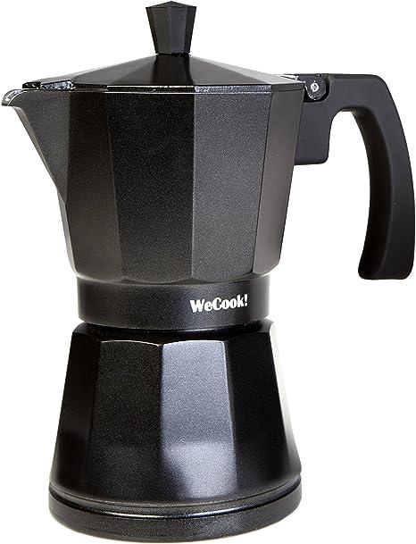 WeCook 30103 Cafetera Italiana Aluminio Inducción, Vitrocerámica y ...