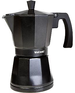 Quid Cafetera Italiana, Acero Inoxidable, Negro, 3 Tazas: Amazon.es: Hogar