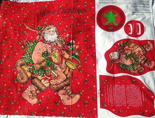 Baby Santa Christmas Printed On Fabric Panel Make A Cushion Upholstery Craft