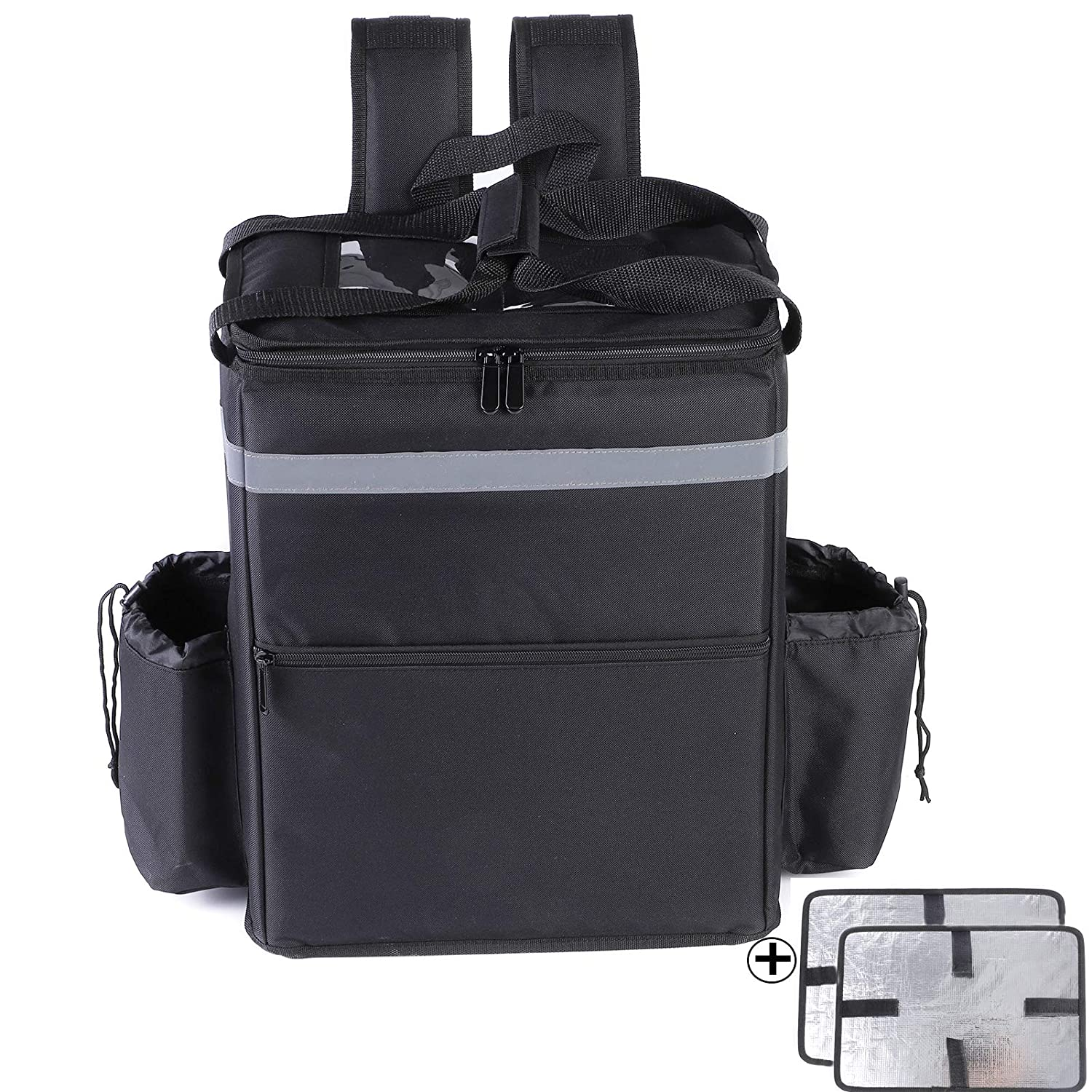Insulated Food Delivery Bag, Food Delivery Backpack, Leak-Proof Thermal Backpack,Soft Sided Cooler Grocery Backpack for Take Out/Travel