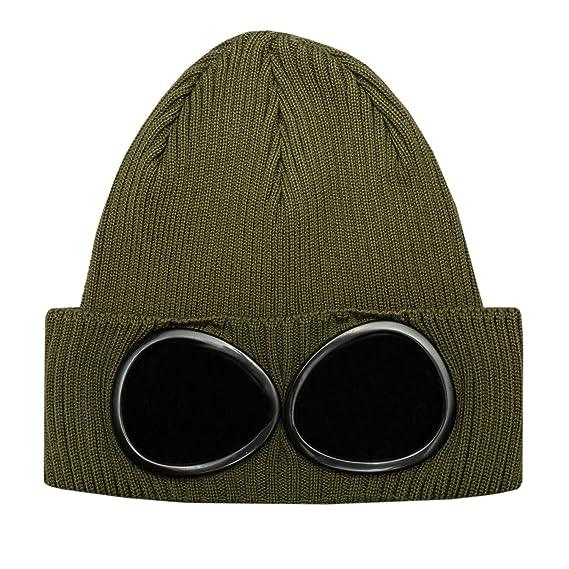 e25fa027a CP Company Goggle Beanie Hat in Khaki One Size: Amazon.co.uk: Clothing
