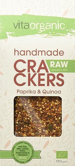 Vita Organic Cracker Raw con Semillas de Chía - Paquete de 6 x 90 gr -