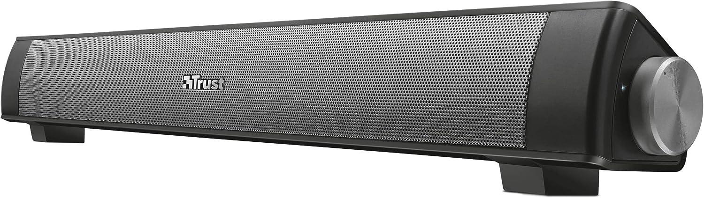 Trust Lino - Barra de Sonido inalámbrica con Bluetooth, Color Negro
